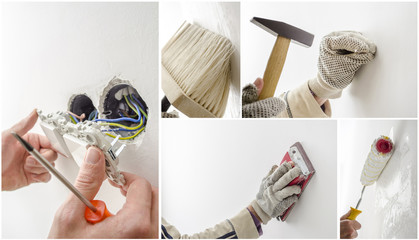 Home renovation collage