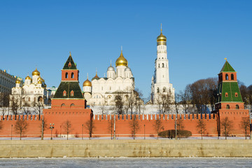 View on Moscow's Kremlin in winter