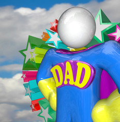 Superhero Dad Super Hero Father Costume