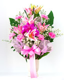 Bouquet of canation lily and orchid
