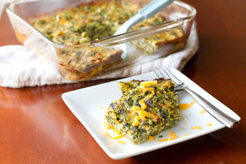 Spinach and cheese casserole - horiz