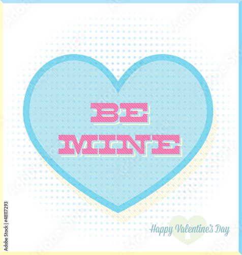 Retro Be Mine Valentine's Day Heart Candy Card