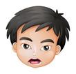 A face of a boy