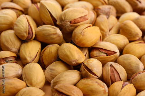 tasty pistachio nuts, close up