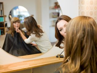 Women in beauty salon