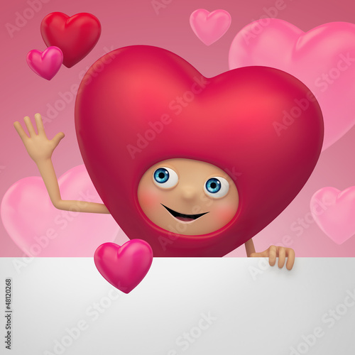 Valentine's Day beautiful funny heart greeting