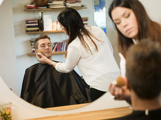 Man in Beauty salon