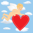 Cupid fly in the sky