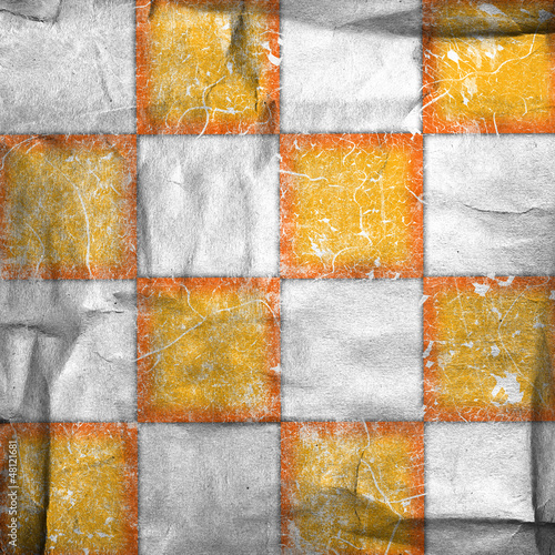 Grungy chessboard background