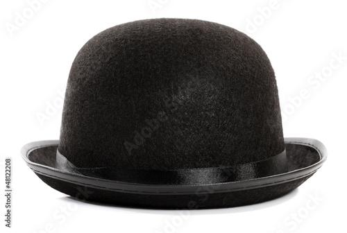 Leinwandbild Motiv Black bowler hat