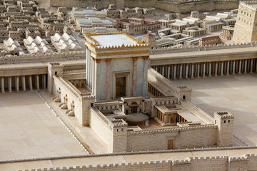 Second Temple. Model of the ancient Jerusalem.