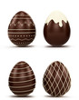 Set of Easter eggs. chocolat candy .