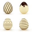 Set of Easter eggs. chocolatcandy . Isolated on white background