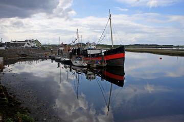 boats moored at Irvine, Scotland