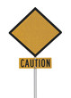 Blank Highway Caution Sign