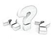 Question Marks - 3D Symbols Pencil sketch