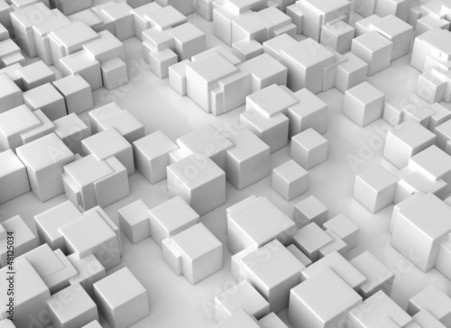 Abstract 3d cubes backround large resolution © Jezper