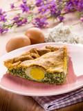 pasqualina cake, traditional italian  easter food - 48125615