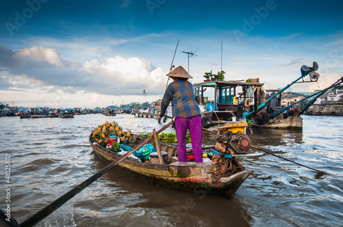 Cai Rang floating market, Can Tho, Vietnam