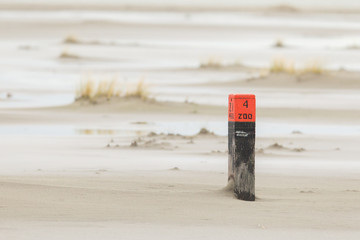 Low tide at the dunes of Ameland