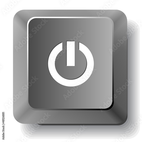 Switch element. Vector computer key.