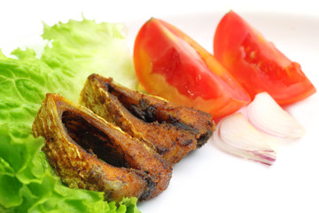 Popular Ilish fish of Southeast Asia salad items