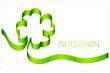 Gutschein Kleeblatt grün