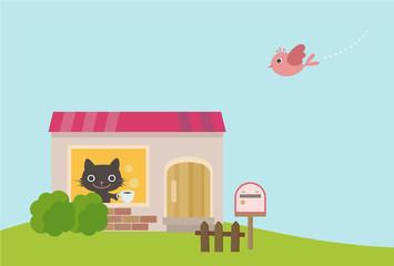 猫の一軒家