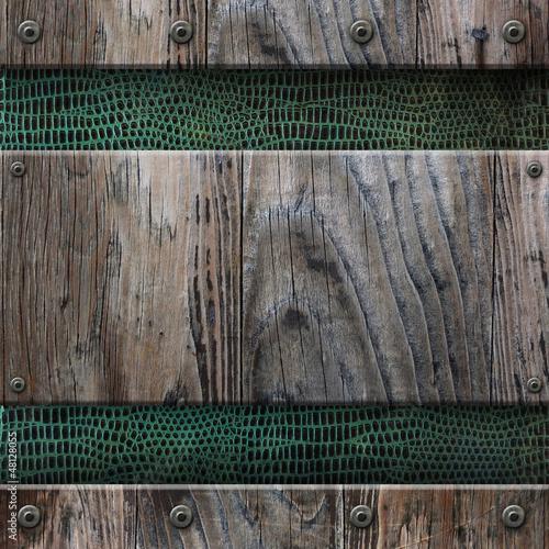 Fond grunge - Bois et peau de serpent