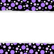 Purple Polka Dot background for your message or invitation