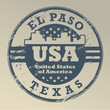 Grunge rubber stamp with name of Texas, El Paso, vector