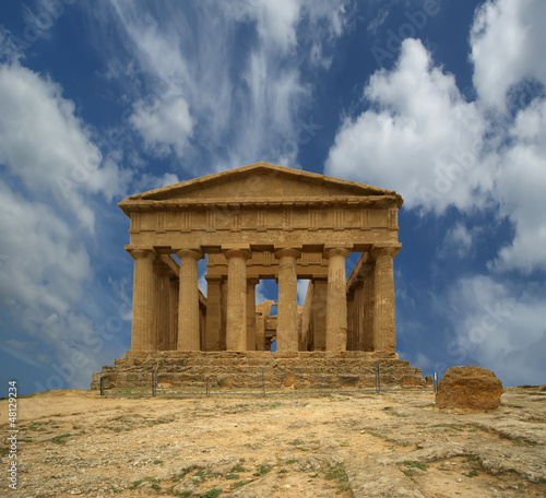 Ancient Greek temple of Concordia, Agrigento, Sicily