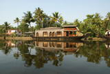 House boat in the Kerala (India) Backwaters.
