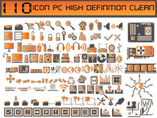 110 ICONS PC CLEAN HIGH DEFINITION BICOLORED CLEAN