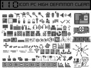 110 PC ICONS BLACK