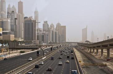 Dubai Sheikh Zayed Road from Metro Station