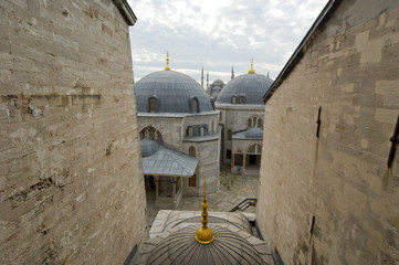 roof of mosque in Istanbul, Turkey