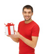 handsome man with a gift