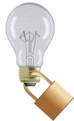 lampadina bloccata