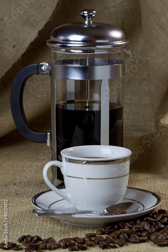 Cup of Coffee and Cafetiere