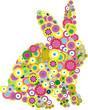 easter bunny, vector illustration