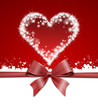 red star heart with a bow background
