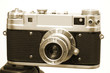 Vintage Camera 3 Mounted On Tripod
