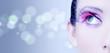 canvas print picture - Occhio ragazza makeup rosa