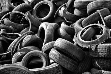 Old car tires