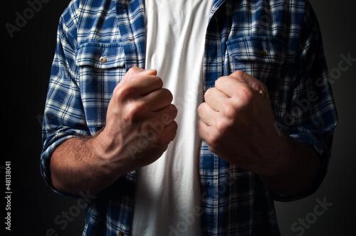 Casual man's fist