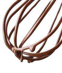 whisk with melted chocolate over white