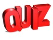 3D Word Quiz on white background