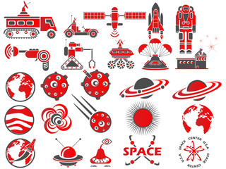 25 SPACE ICON RED