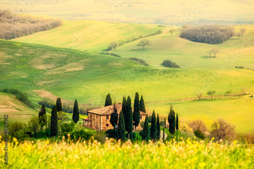 Fototapety, obrazy : Spring in the Tuscany
